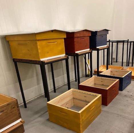 Pied Metal sur mesure ruches savebee